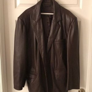 Roundtree & Yorke Brown Leather Jacket